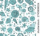 Starfishes And Seashells Hand...
