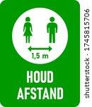 "Houd Afstand  ""keep Your..."