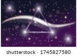 glowing triangle dark wallpaper ... | Shutterstock . vector #1745827580