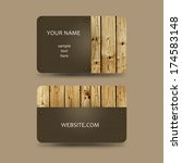 business card template with... | Shutterstock . vector #174583148