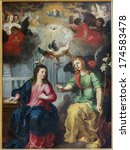 Постер, плакат: The Annunciation Paint by