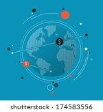 flat design style modern vector ... | Shutterstock .eps vector #174583556