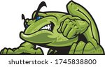 illustration of a frog in a... | Shutterstock .eps vector #1745838800