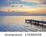 pier on the ocean color | Shutterstock . vector #174584558