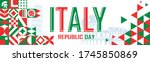 Republic Day Of Italy Or Itali...