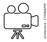 movie camera symbol...