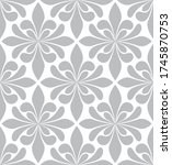 vector seamless floral damask... | Shutterstock .eps vector #1745870753