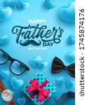 father's day sale poster with... | Shutterstock .eps vector #1745874176