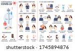 coronavirus infographic set ...   Shutterstock .eps vector #1745894876