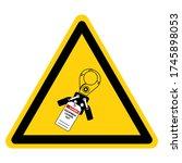 danger equipment locked out... | Shutterstock .eps vector #1745898053
