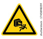 keep out hazadous high voltage... | Shutterstock .eps vector #1745898059