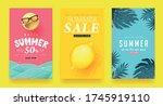 summer sale background layout...   Shutterstock .eps vector #1745919110