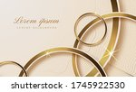luxury gold background with...   Shutterstock .eps vector #1745922530