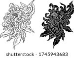 colorful flower with... | Shutterstock .eps vector #1745943683