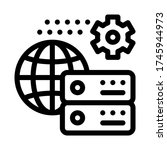 global settings icon vector.... | Shutterstock .eps vector #1745944973