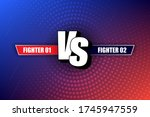 vs versus blue and red comic... | Shutterstock .eps vector #1745947559