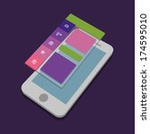 mobile app | Shutterstock .eps vector #174595010