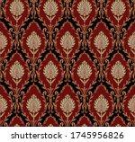 mughal motif bunch  pattern... | Shutterstock .eps vector #1745956826