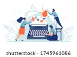 story writing. author book... | Shutterstock .eps vector #1745961086