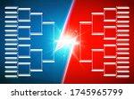 tournament bracket template for ... | Shutterstock .eps vector #1745965799