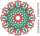 red and greenmandala vector art ... | Shutterstock .eps vector #1745967773