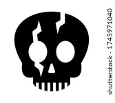 skull icon or logo isolated... | Shutterstock .eps vector #1745971040