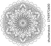 zentangle zen stress relief... | Shutterstock .eps vector #1745972600