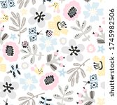 vector seamless pattern with... | Shutterstock .eps vector #1745982506