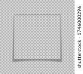 frame shadow on transparent... | Shutterstock .eps vector #1746000296