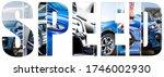 deep dark blue car  collage...   Shutterstock . vector #1746002930