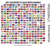 287 world country flags with... | Shutterstock .eps vector #1746003566