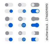 set of auto play buttons in a...   Shutterstock .eps vector #1746009890