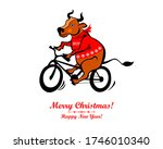 2021 happy new year greeting... | Shutterstock .eps vector #1746010340