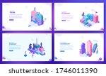 trendy flat illustration. set... | Shutterstock .eps vector #1746011390