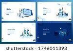 trendy flat illustration. set... | Shutterstock .eps vector #1746011393