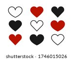 hearts. hearts vector icons.... | Shutterstock .eps vector #1746015026