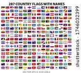 285 plus world country flags... | Shutterstock .eps vector #1746032399