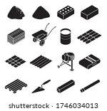 construction material black set ... | Shutterstock .eps vector #1746034013