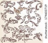 vector set of swirl elements... | Shutterstock .eps vector #174603719