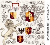 vector set of luxury royal... | Shutterstock .eps vector #174603740