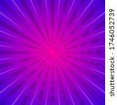 sun with rays star burst... | Shutterstock .eps vector #1746052739