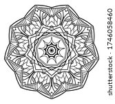 mandalas for coloring book.... | Shutterstock .eps vector #1746058460