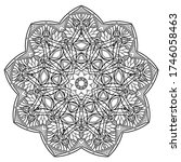 mandalas for coloring book.... | Shutterstock .eps vector #1746058463