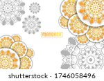 mandala background design... | Shutterstock .eps vector #1746058496