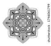 abstract mandala. hand drawing... | Shutterstock .eps vector #1746061799