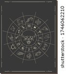 astrology horoscope circle with ... | Shutterstock .eps vector #1746062210
