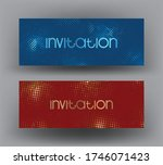 sparkling invitation cards with ... | Shutterstock .eps vector #1746071423
