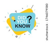 did you know interesting fact...   Shutterstock .eps vector #1746079580