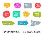 grunge sale stickers set.... | Shutterstock .eps vector #1746085106