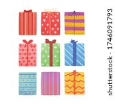 pack of gift boxes for party... | Shutterstock .eps vector #1746091793
